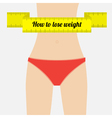 Woman figure waist How to lose waight vector image