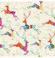 Merry Christmas reindeer seamless pattern file vector image
