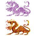 fiery dragon vector image vector image