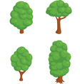 Set of 4 Isometric Trees vector image