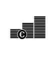 finance money euro icon vector image
