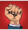 Fist hand business concept vector image