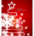 Holiday red abstract background winter snowflakes vector image vector image
