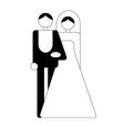 wedding logo vector image vector image