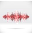 Sound waveform made of scattered balls vector image