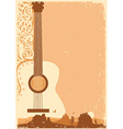 Concert guitar poster music festival on ola paper vector image