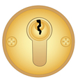 Gold keyhole vector image