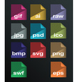 image formats set vector image