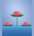 lotus in a pond paper art style vector image