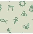 seamless background with symbols of religion vector image