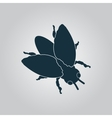 Stencil black flies icon sign and button vector image