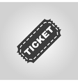 The ticket icon Ticket symbol Flat vector image