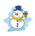 Happy snowman cartoon collection stock vector image