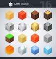 Isometric Material Cubes vector image