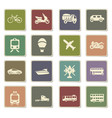 transport types icon set vector image