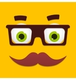 Hipster Avatar with Geek Glasses And vector image
