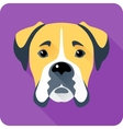 dog Boxer icon flat design vector image vector image