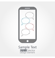 cellphone chat concept vector image