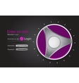 login page with tune button vector image vector image
