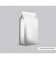 Blank White Foil Food Packaging llustration vector image