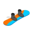 Snowboard with boots icon isometric 3d style vector image