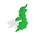 Map of Great Britain icon isometric 3d style vector image
