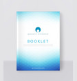 a blue brochure template modern vector image