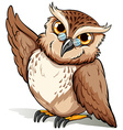 A wise owl vector image