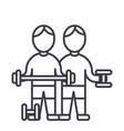 bodybuildersfintess gymstrong practiceweights vector image