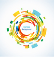 Bright technology circles backgrounds vector image
