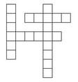 crossword flat icon crossword on white vector image