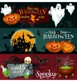 Design for Halloween signboards and posters vector image