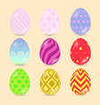 Easter Eggs icons isolated on background vector image