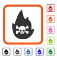 hellfire framed icon vector image