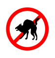 No animals sign do not allowed on white vector image