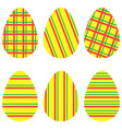 striped eggs2 vector image