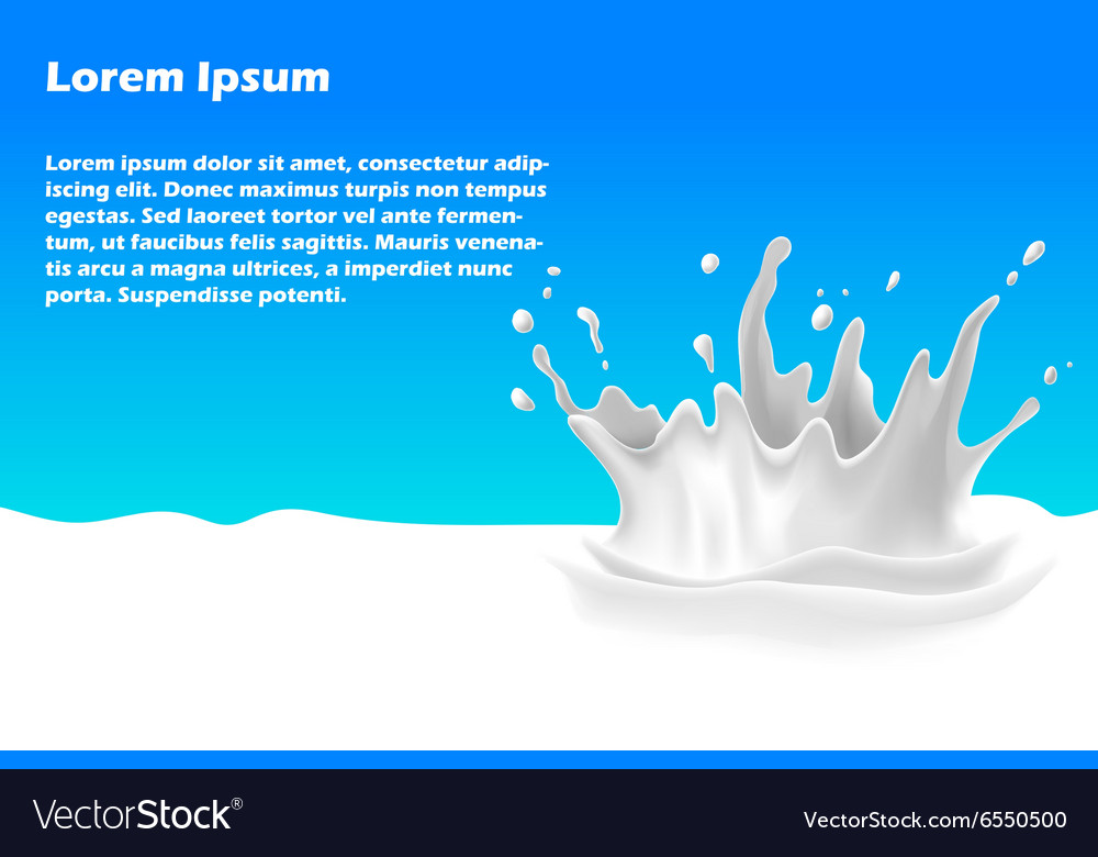 Splash of milk banner vector