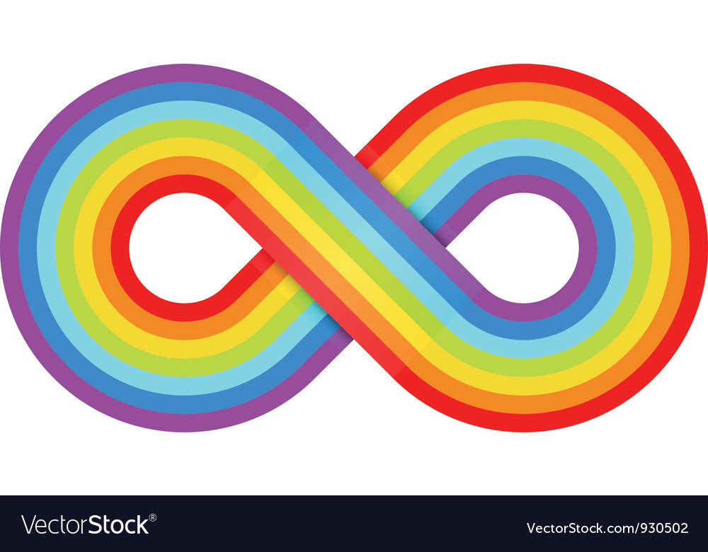 Abstract rainbow infinity vector