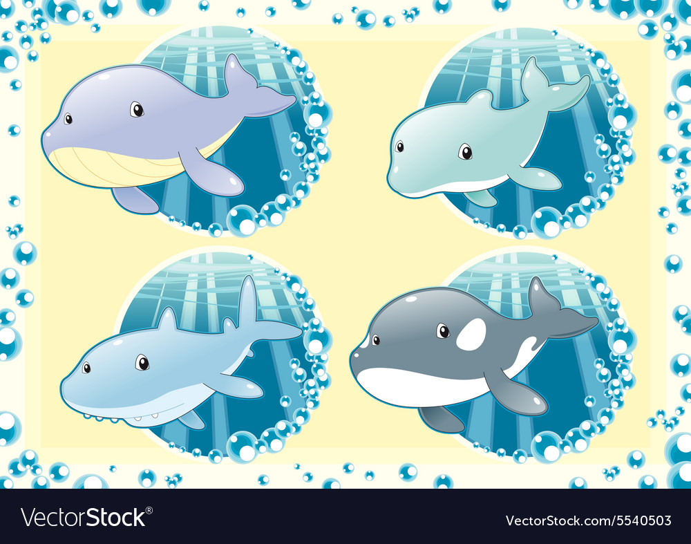 Ocean family fish vector