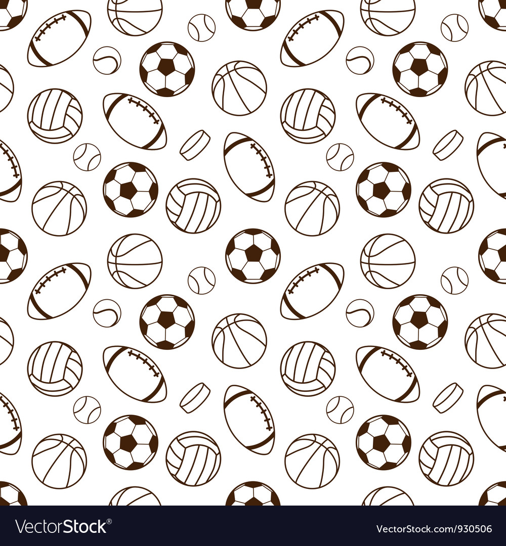 Sports seamless pattern vector