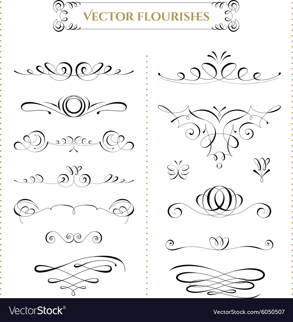 Collection of flourishes vector
