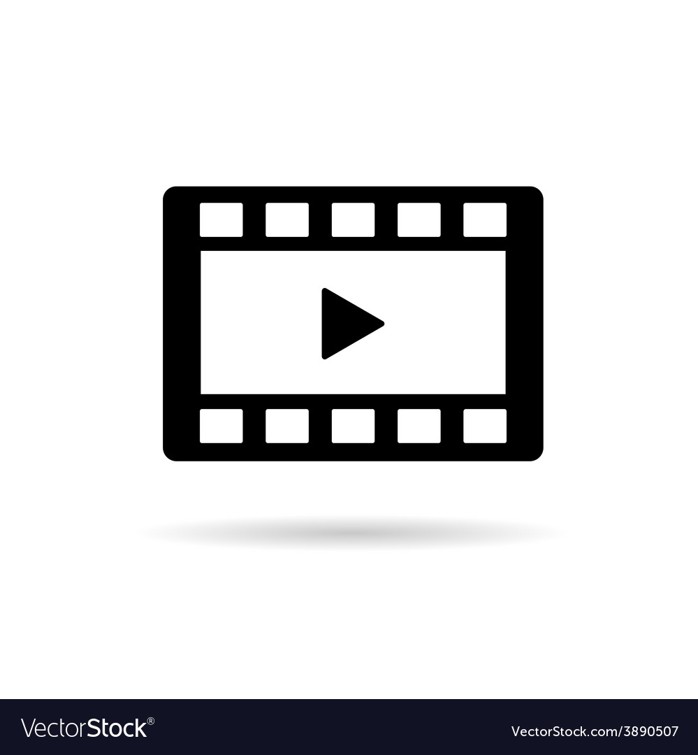 Film tape play vector