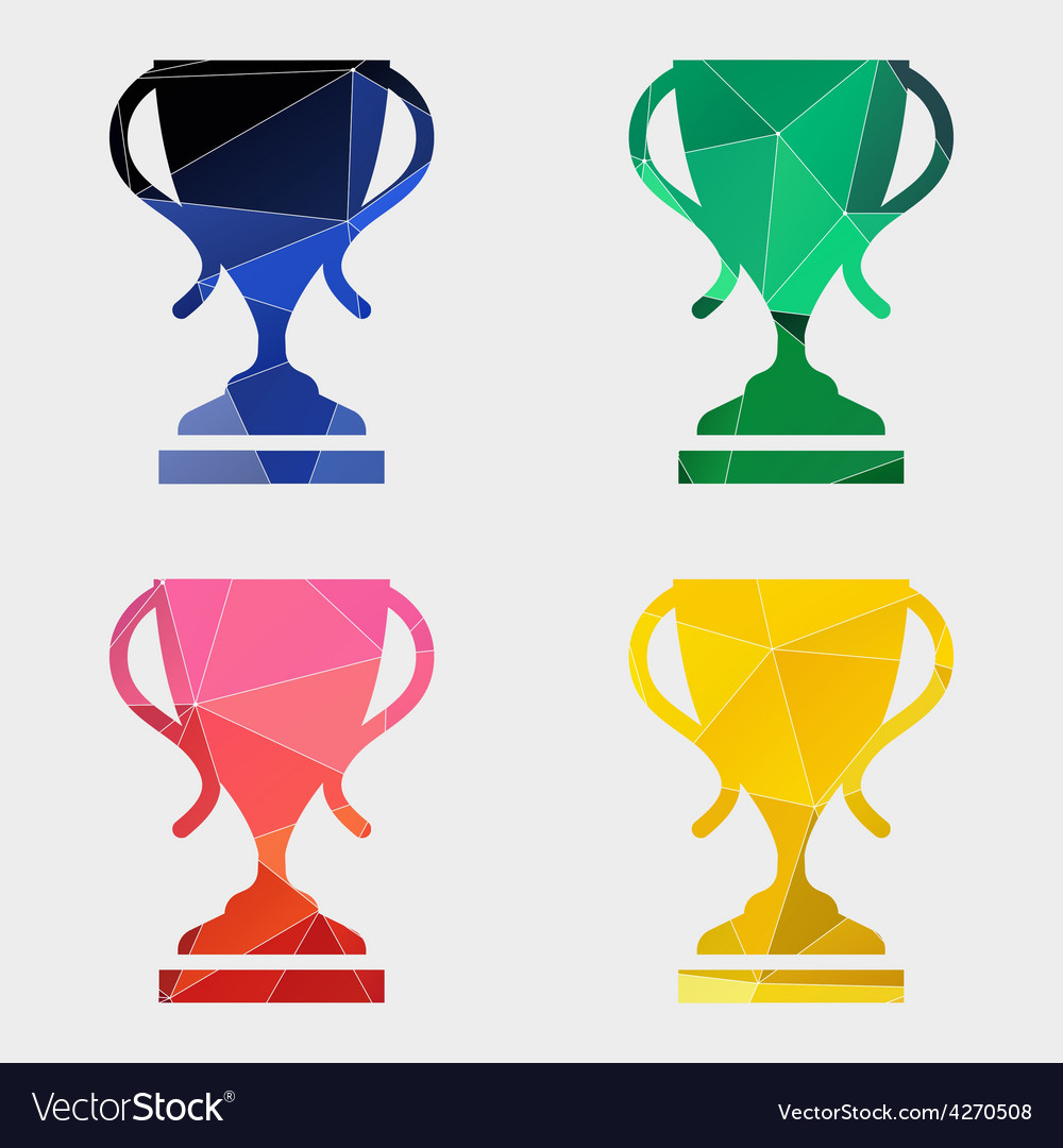 Cup icon abstract triangle vector