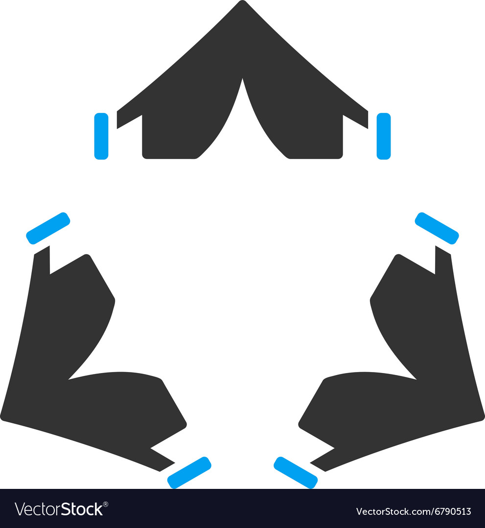 Tent camp icon vector