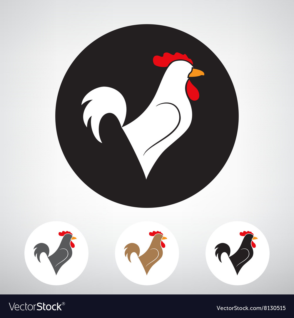 Stylized silhouette of a rooster vector