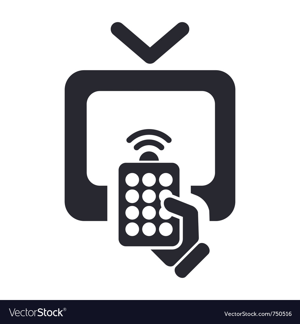 Remote tv icon vector