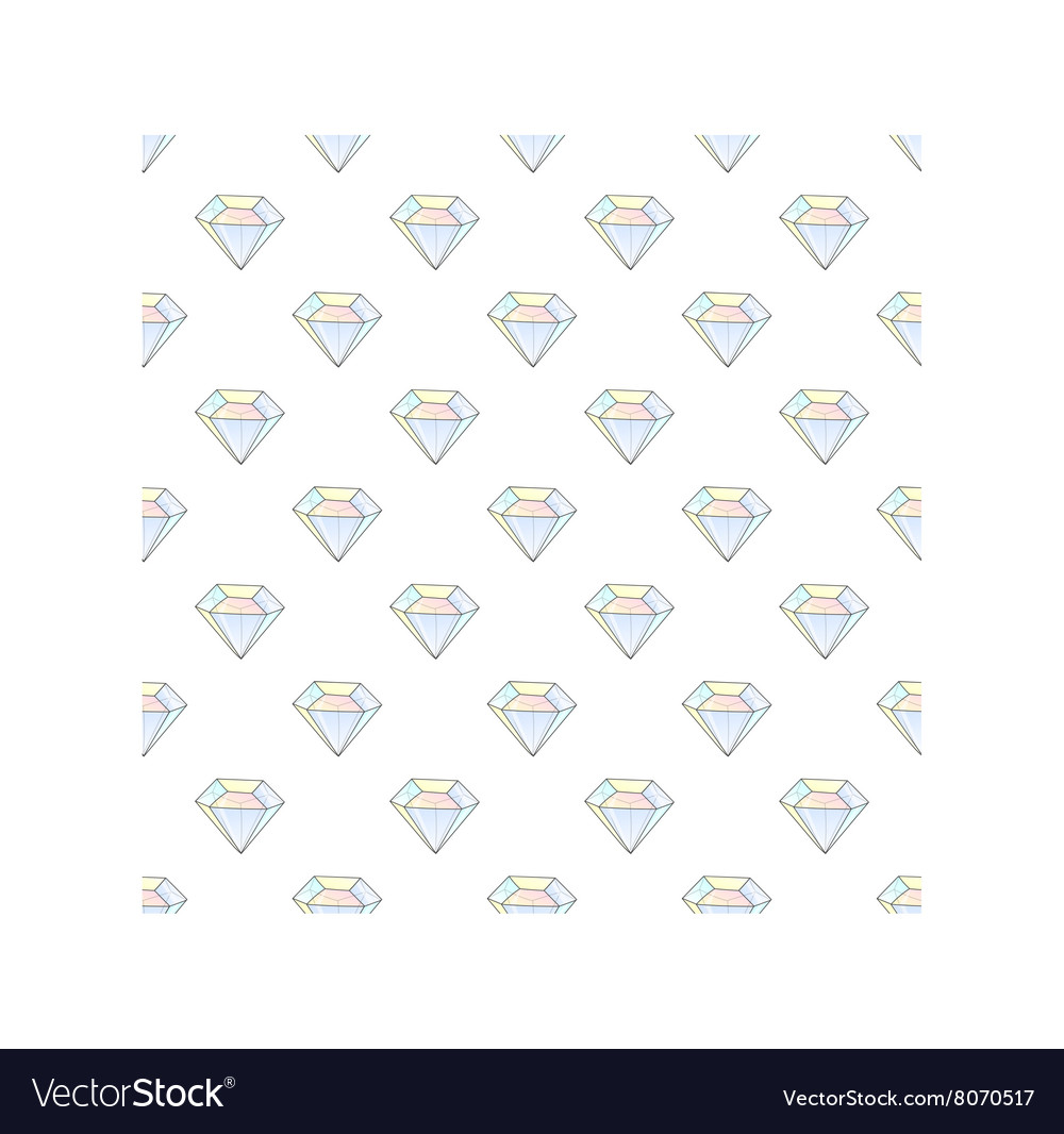 Fashion hipster seamless pattern with diamonds vector