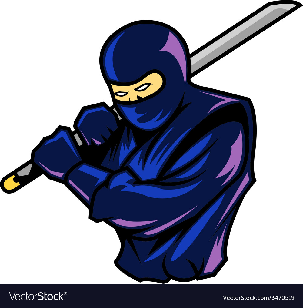 Steady ninja vector