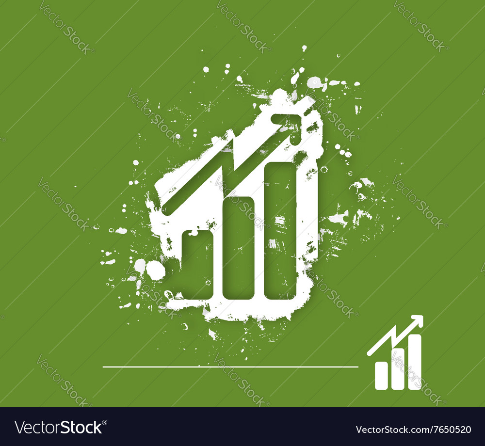 Business graph desig vector