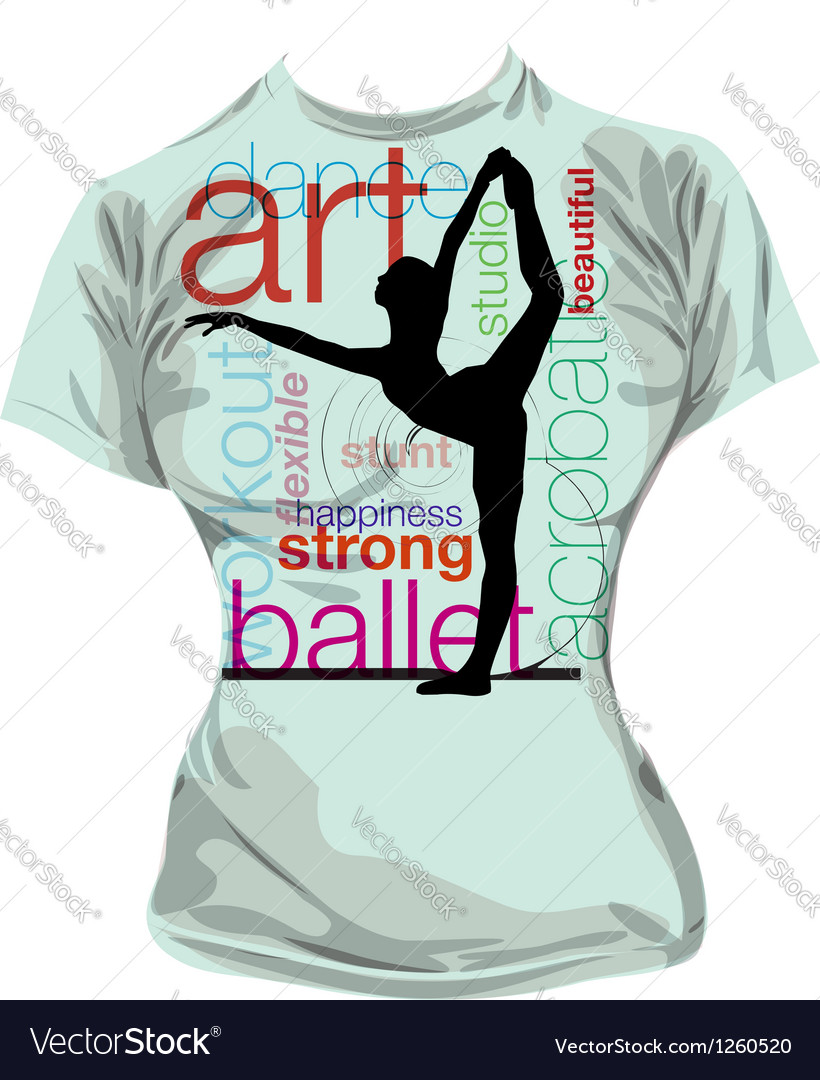 Dance tshirt vector